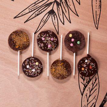 Coffret 6 sucettes chocolat noir